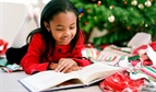 children reading christmas
